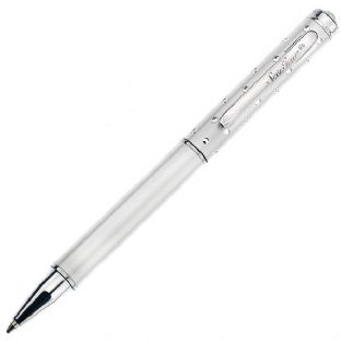White Stylus Ballpoint Pen with Crystals
